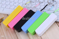 Wholesale Perfume mAh Portable Power Bank Color Mixed External USB Micro USB host battery power bank For samsung S4 s3 iphone5 DHL Free Ship