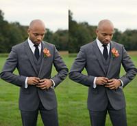 best price beige jacket - 2015 New Dark Grey Groommen Tuxedos Cheap Slim Fit Best Price Men Wedding Suits Jacket Pants Tie Vest