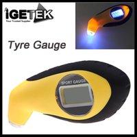 Wholesale 100PSI KPA BAR Digital LCD Air Pressure Tyre Car Tire Gauge High Accuracy Tester Tool with LED for Car Motor Bike