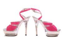 Wholesale Fuchsia High Heels Platform Lady Formal Dress Women s Shoes Fashion Sandals Dance Shoes Wedding Shoes A2