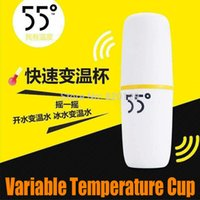 Wholesale NEW Degree Stainless Steel Variable Temperature Magical Thermostated cup Vacuum Flasks Fast shake Cups Colorful