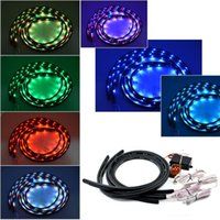 Wholesale 7 Colors LED RGB Underbody Under Car Strip Flash Light Lamp With Remote Control