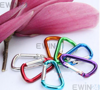 Cheap Mix Color Aluminum Alloy Carabiner Key Ring Camping Clip Stretch Snap Hook 100pcs