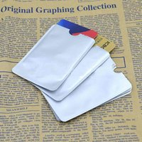 credit cards - SET Sets aluminum foil Security Card Shield Credit Card RFID Protection Anti Theft Security Sleeves