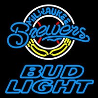 beer brewers - Revolutionary Neon Super Bright Bud Light Milwaukee Brewers Neon Beer Signs24 quot x20 quot Available multiple Sizes