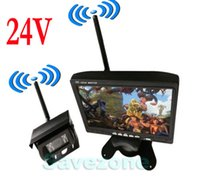 "Cheap 24V Wireless Car Rear View Kit 7"" LCD Monitor + 18 IR LED Reversing Camera"