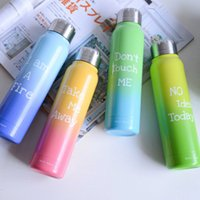 stainless steel double wall bottle - 100pcs ml Double Wall Vacuum Insulated Stainless Steel Water Bottle Keep Drinks