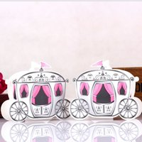Cheap Enchanted Carriage Fairytale Themed Favor Box Wedding Boxes Cinderella Pumpkin Carriage Candy Boxes gift box Cardboard boxes For Wedding