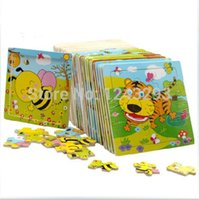 Wholesale cartoon animal baby jigsaw Board puzzles years old child tangram wooden Kids toys puzzle Educational Learning toys unisex A5