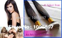 Meilleur maquillage mac # 2 Brun foncé brésilien cheveux de la Vierge Straight peau humaine Trame / bande dans les extensions de cheveux 100g 26 28 pouces