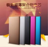 20000mAh banco de la energía ultrafino Delgado energía de la batería de alimentación externa libro cargador de batería de emergencia Powerbank portátil para el iphone 6 6s caliente