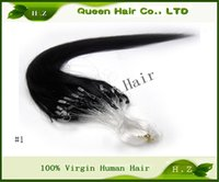 Wholesale price Brazilian Hair extension Loop Micro Ring Hair Extensions straight quot quot g s s Grade A