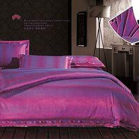 silk bedding - Embroidery Purple Bedding Supplies Silk Floss Jacquard Weave Wedding Bedding Set Covers Pillowcase Sheet DPP_11142
