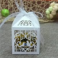 art moving boxes - 2016 Delicate paper candy boxes Hollow out candy box Love pigeons art sculpture handicraft candy box