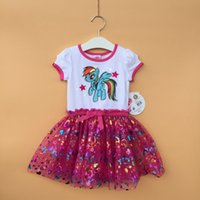 Cheap my little pony dress tutu Best girls sequin tutu dress