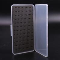 Cheap Slim Fishing Tackle Box Slit Foam Insert Fly Fishing Lure Bait Hook Case Plastic Cover Box accessory tool