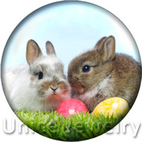 rabbits for sale - AD1301250 mm Snap On Charms for Bracelet Necklace Hot Sale DIY Findings Glass Snap Buttons Jewelry Cute rabbit Design noosa
