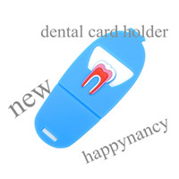 Wholesale HOT New Rubber Dental Clinic Tooth Business Name Card Holder Case Display Stand business card files holders