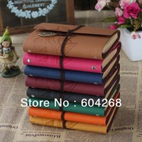 Wholesale Multicolor Vintage ImitationLeather Journal Notebook Retro Craft Pape Spiral Diary Journals Book korea Stationery