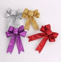 Wholesale 2014 Christmas Wedding Decoration Mercerizing Belt Bows Golden Sliver Red Purple CM CM In Stock Bridal Supplies dhyz