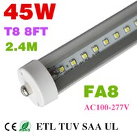 Cheap led tube lights 8ft T8 FA8 Single Pin LED Tube Lights 45W 4800Lm Bulbs SMD 2835 2400MM 8feet LED Fluorescent Tube Lamps 85-265V
