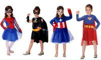 batgirl cosplay - DHL Design Halloween costumes batgirl batman Captain America spiderman dress new cosplay girl Super hero mask dress B001