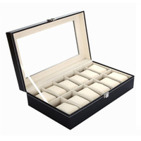 Wholesale Leather Watch Cases Jewelry Display Storage Organizer Watch Box Holder Caixa De Relogios For Storing Hours Jewelry YT0250 Salebags