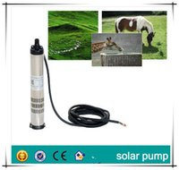 Wholesale 20M head submersible dc solar pump for deep well irrigation garden home using without solar panel