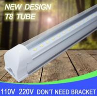 Wholesale V Shaped ft mm Cooler Door Led Tubes T8 Integrated Led Tubes Double Sides SMD2835 Led Fluorescent Lights AC V UL DLC