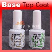 Wholesale New ml Soak Off Nails UV Gel Polish Base Coat Top Coat soak off gel set nail Art polish Care Retail