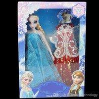 Unisex action figure clothes - EMS Dolls Princess Elsa Doll figure Toy in box action figure change clothes