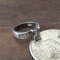 avon - Vine American Western antique jewelry AVON Avon zircon sterling silver vine rings silver standard female