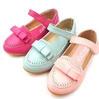 light tape - 2015 Pu Leather Kids Girls Spring Butterfly Princess Shoes Children Lovley Magic Tape Soft Bottom Princcess Shoe Pink Light Green J3540