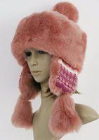Wholesale 2016 New Winter Women Fashion Warm Faux Fur Bomber Hat Russian Mongolia Hat More Color