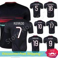 andre football - Thai Quality Black Ronaldo Jersey Camisa football shirts RONALDO NANI ANDRE GOMES Jersey black soccer jersey