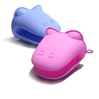 Wholesale New Cute Cartoon Silicone Hippo Oven Mitt Kitchen Cooking Microwave Insulated Gloves Non slip Kitchen Gloves