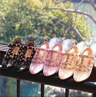 beautiful shoes - 2015 Summer High Quality Girls Rivit Lace Sandals Best Sale Girl Princess Sandals Children Beautiful Fashion Shoes Kids lace shoes