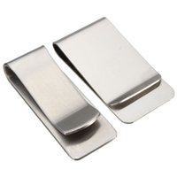 Wholesale High quality new Silver Stainless Steel Slim Simple Style for Pocket Wallet Credit ID Card Money Clip Holder