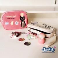 Wholesale Cartoon cute black cats Zipper coin purses Coin Wallet Purse Bags phone bag Chirstmas gift