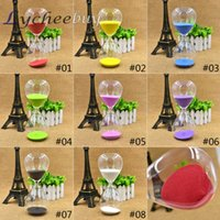 Wholesale Creative Colors Minutes Glass Sand Egg Cooking Timer Clock Hourglass Home Decor