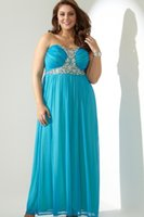 babydoll maternity dress - Plus Size Strapless Long Prom Dresses With Stone Babydoll Bodice Backless Chiffon Beaded Evening Party Gowns