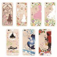 belle cover - Transparent Princess Girl Ariel Rapunzel Cinderella Belle Cover Cases For Apple iPhone s plus s TPU Case