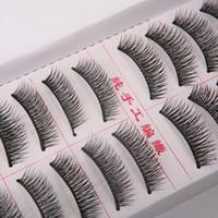 Wholesale 10 Pairs Handmade Fake Eye Lashes Natural Long Thick False Eyelashes FM0096
