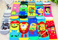 Wholesale New color cotton Children Boys and girls minions Socks Despicable Me Socks super hero socks Baby Clothing C033