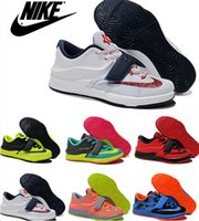 kids kevin durant shoes - 2015 children Nike Kd Kevin Durant kid Basketball Shoes youth Kd7 Lighting Thunder Sneakers July th Global Game