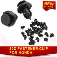 Wholesale 30X Clip Fastener For Honda Civic for Accord Rivet Fender Screw Retainer Bumper Push Black Nylon Plastic