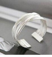 Wholesale Double layer crystal rhinestone bracelets wristbands diamond bracelet fashion Cuff bracelet jewelry