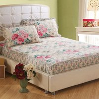Wholesale Flowers thick cotton cotton bed cover bed Li single quilted bedspread Simmons protective sleeve one piece Specials dd112