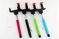 best monopod - Best selling new design z07 wire Selftimer updated mobile phone monopod cable take pole selfie stick z07 plus monopod
