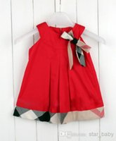 baby corsages - Summer Children Baby Girls Leisure Style Exquisite Cotton Sleeveless Dress Kids Lovely Bowknot Corsage Solid Vest Dresses I0493